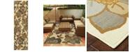 """Oriental Weavers Bali 9448M Ivory/Gray 7'10"""" x 7'10"""" Indoor/Outdoor Runner Area Rug"""