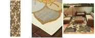 """Oriental Weavers Bali 9448M Ivory/Gray 2'3"""" x 7'6"""" Indoor/Outdoor Runner Area Rug"""
