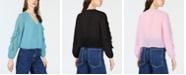 Bar III Ruffle-Sleeve Button-Up Top, Created for Macy's