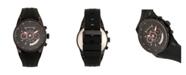 Morphic Quartz M72 Series, MPH7205, Black Chronograph Silicone Watch 43MM