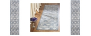 Safavieh Brentwood Navy and Creme 2' x 8' Runner Area Rug