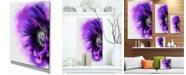 "Design Art Designart Purple Stylized Watercolor Poppy Floral Canvas Art Print - 12"" X 20"""