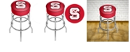 Trademark Global North Carolina State Chrome Bar Stool with Swivel