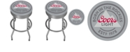 Trademark Global Coors Light Outdoor Ribbed Barstool