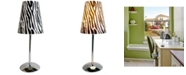 All The Rages Limelight's Mini Silver Table Lamp with Plastic Printed Shade