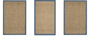 Safavieh Natural Fiber Natural and Navy 3' x 5' Sisal Weave Area Rug
