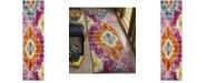 "Safavieh Watercolor Fuchsia and Orange 2'2"" x 8' Runner Area Rug"