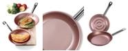 Culinary Edge 8'' and 11'' Diamond Textured Bottom Non-Stick Frypan