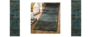 """Safavieh Serenity Turquoise and Gold 2'3"""" x 8' Runner Area Rug"""