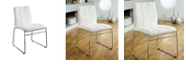 Benzara Contemporary Side Chair with Steel Tube - Set Of 2