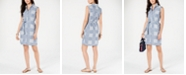 Tommy Hilfiger Cotton Patchwork-Print Belted Shirtdress, Created for Macy's