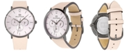 Tommy Hilfiger Women's Pink Leather Strap Watch 40mm Created for Macy's