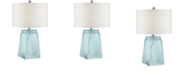 Pacific Coast Sky Blue Seeded Glass Table Lamp