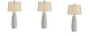 Pacific Coast Geo Pattern Faux Cement Table Lamp