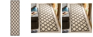 Safavieh Linden Creme and Brown 2' x 8' Runner Area Rug