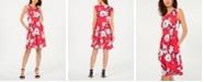 Jessica Howard Sleeveless Printed Fit & Flare Dress