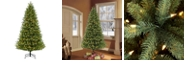 Puleo International 7.5 ft. Pre-Lit Green Mountain Fir Artificial Christmas Tree with 700 Clear UL listed Lights
