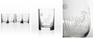 Rolf Glass Heron Double Old Fashioned 14Oz - Set Of 4 Glasses