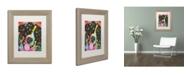 """Trademark Global Dean Russo 'Saint' Matted Framed Art - 14"""" x 11"""" x 0.5"""""""