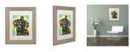 """Trademark Global Dean Russo '21' Matted Framed Art - 14"""" x 11"""" x 0.5"""""""