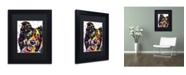 "Trademark Global Dean Russo 'Border Collie' Matted Framed Art - 11"" x 14"" x 0.5"""