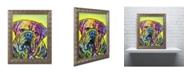 "Trademark Global Dean Russo 'Hey Bulldog' Ornate Framed Art - 14"" x 11"" x 0.5"""