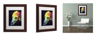 """Trademark Global Dean Russo 'Greyhound' Matted Framed Art - 14"""" x 11"""" x 0.5"""""""