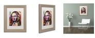 """Trademark Global Dean Russo 'Mona Lisa' Matted Framed Art - 14"""" x 11"""" x 0.5"""""""