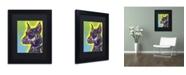 """Trademark Global Dean Russo 'Doberman' Matted Framed Art - 11"""" x 14"""" x 0.5"""""""