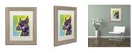 """Trademark Global Dean Russo 'Doberman' Matted Framed Art - 14"""" x 11"""" x 0.5"""""""