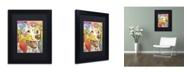 """Trademark Global Dean Russo 'Dakota II' Matted Framed Art - 11"""" x 14"""" x 0.5"""""""