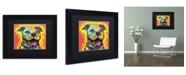"Trademark Global Dean Russo 'Dewey Pit Bull' Matted Framed Art - 11"" x 14"" x 0.5"""