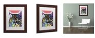"Trademark Global Dean Russo 'Maine Coon' Matted Framed Art - 14"" x 11"" x 0.5"""