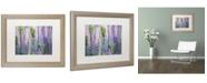 "Trademark Global Cora Niele 'Blue Pink Lupine Field' Matted Framed Art - 20"" x 16"" x 0.5"""