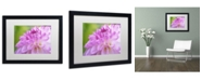 "Trademark Global Cora Niele 'Cerise Pink Dahlia' Matted Framed Art - 16"" x 20"" x 0.5"""