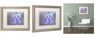 "Trademark Global Cora Niele 'Iris Blue Rhythm' Matted Framed Art - 20"" x 16"" x 0.5"""