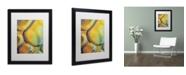 """Trademark Global Cora Niele 'Orange Drops' Matted Framed Art - 16"""" x 20"""" x 0.5"""""""