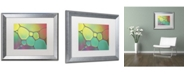 """Trademark Global Cora Niele 'Stained Glass I' Matted Framed Art - 20"""" x 16"""" x 0.5"""""""