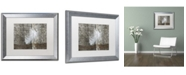 """Trademark Global Cora Niele 'White Feather on Rough Wood' Matted Framed Art - 20"""" x 16"""" x 0.5"""""""