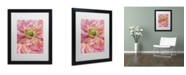 "Trademark Global Cora Niele 'Cerise Pink Poppy' Matted Framed Art - 16"" x 20"" x 0.5"""