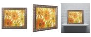 """Trademark Global Cora Niele 'Orange Daisies' Ornate Framed Art - 14"""" x 11"""" x 0.5"""""""