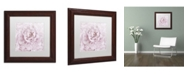 "Trademark Global Cora Niele 'Pink Peony Flower' Matted Framed Art - 11"" x 11"" x 0.5"""