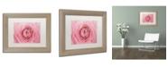 """Trademark Global Cora Niele 'Pink Persian Buttercup Flower' Matted Framed Art - 14"""" x 11"""" x 0.5"""""""