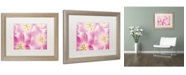 "Trademark Global Cora Niele 'Three Cerise Pink Tulips' Matted Framed Art - 20"" x 16"" x 0.5"""