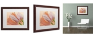 "Trademark Global Cora Niele 'Two Orange Tulips' Matted Framed Art - 20"" x 16"" x 0.5"""