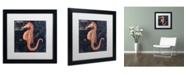 "Trademark Global Color Bakery 'Maritime Blues I' Matted Framed Art - 16"" x 16"" x 0.5"""