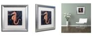 "Trademark Global Color Bakery 'Maritime Blues I' Matted Framed Art - 16"" x 0.5"" x 16"""