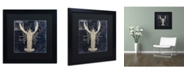 "Trademark Global Color Bakery 'Maritime Blues II' Matted Framed Art - 16"" x 16"" x 0.5"""