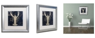 "Trademark Global Color Bakery 'Maritime Blues II' Matted Framed Art - 16"" x 0.5"" x 16"""
