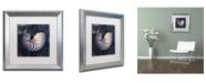 "Trademark Global Color Bakery 'Maritime Blues V' Matted Framed Art - 16"" x 0.5"" x 16"""